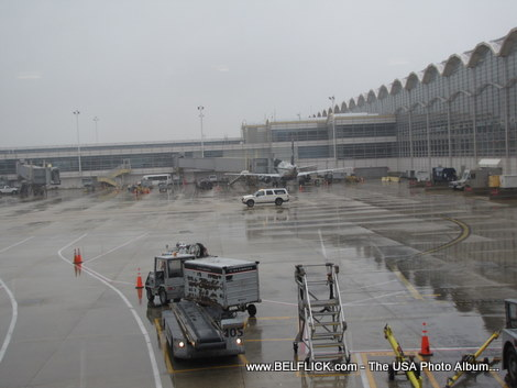 Washington Dulles Airport, I was sitting next to the glass