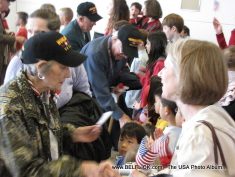 There were American women in the war, you almost get the impression that all the World War II veterans are men