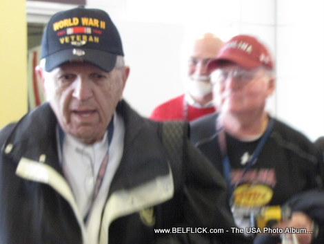 Another bad photo of a World War II veteran, Sometimes I just can't get the darn camera to focus LOL...