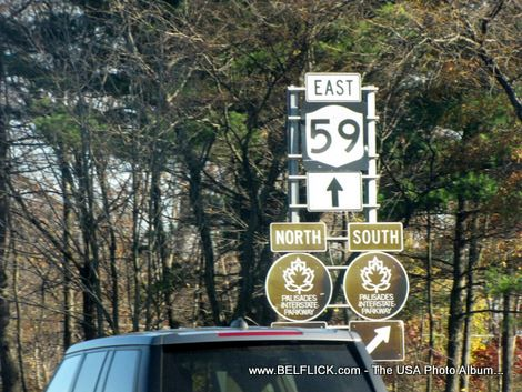 Route 59 East Palissades Interstate Parkway Street Signs