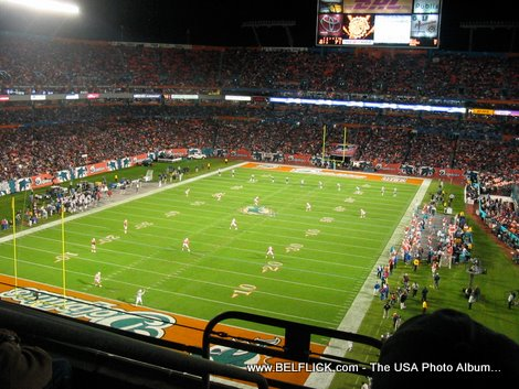 football game at sunlife stadium fl