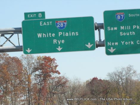 Interstate 287 New York, Exit 8 East, White Plains