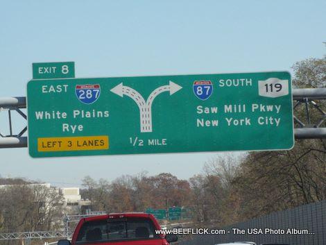 I287 Exit 8 White Plains, Rye, 287 East