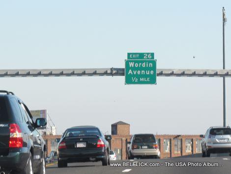 Wordin Avenue, Exit 26, Connecticut Interstate 95