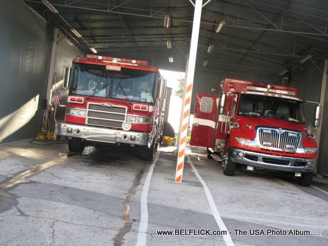 Las Olas Fire Station Firetrucks Fort Lauderdale Beach Florida