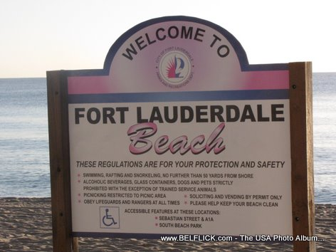 Welcome Sign Fort Lauderdale Beach Florida