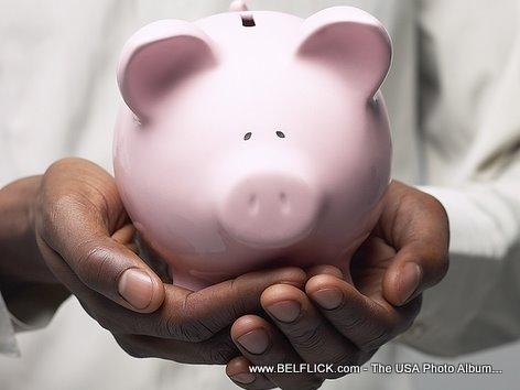 Money Piggy Bank In Good Hands