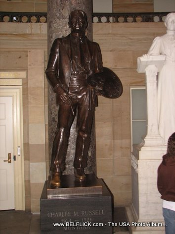 Charles Marion Russell Statue Inside The United States Capitol Building