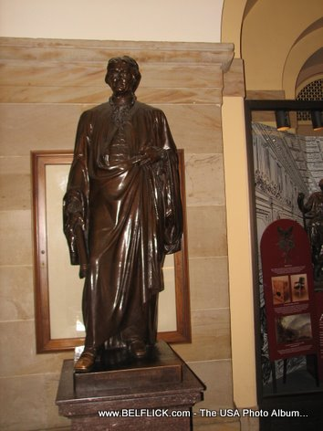 Robert R Livingston Statue Inside The United States Capitol Building