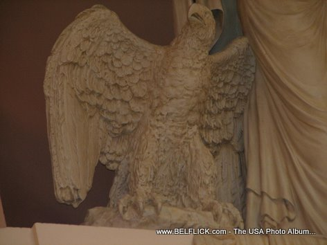 American Bald Eagle Statue Inside The United States Capitol Building