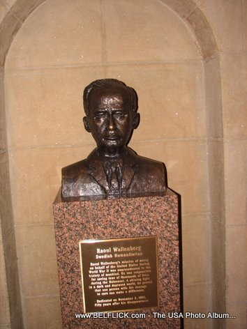 Raoul Wallenberg Statue Inside The United States Capitol Building