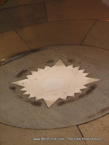 Star Star Compas In US Capitol Crypt Center Of Washington DC