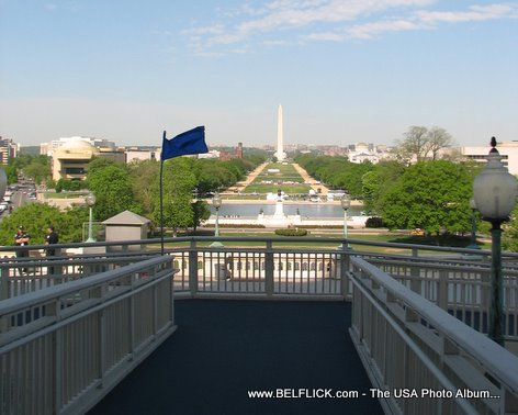 View Of The Washington Monument From The Steps Of The US Capitol