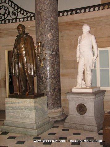 Hannibal Hamlin Statue Daniel Webster Statue US Capitol