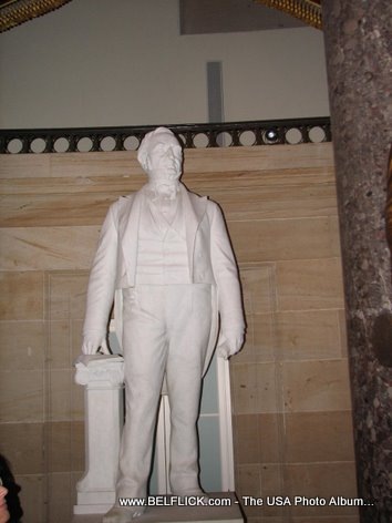 Statue Inside The United States Capitol Building