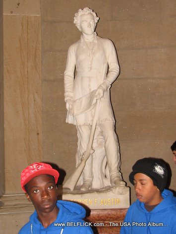 Stephen Austin Statue Inside The United States Capitol Building