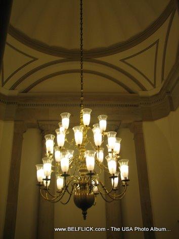 Chandelier Inside Capitol Building